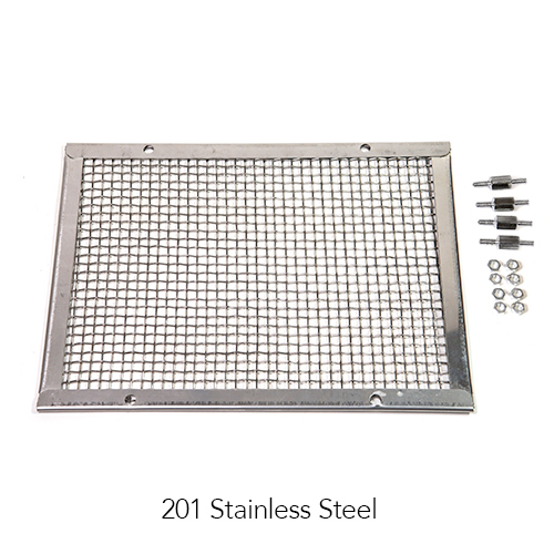 KM-M201 Protective Mesh (201 Stainless Steel) Mesh + mounting accessories Image
